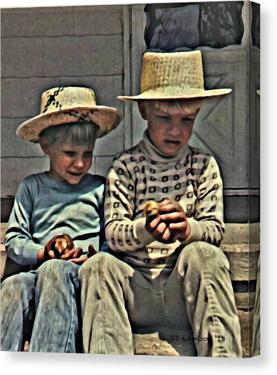 Youth Canvas Print featuring the photograph The Boys by DD Edmison