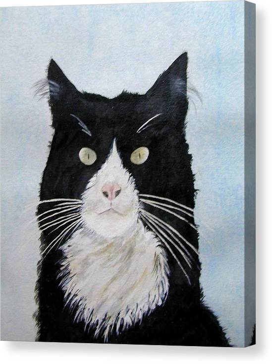 Sometimes They Look At You And You Just Know They Know It All All Along Canvas Print featuring the painting Curiosity by Wilfred McOstrich