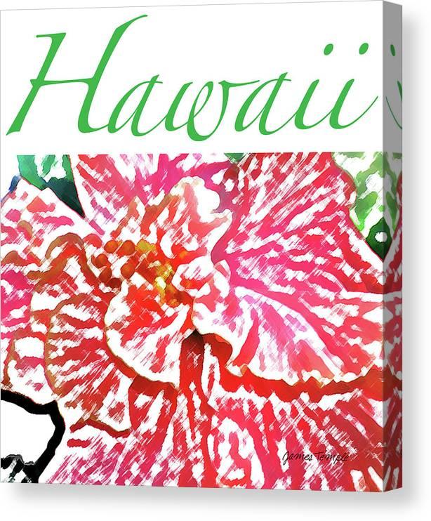 Hawaii Canvas Print featuring the digital art Hawaii Blush by James Temple