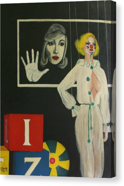 Figurative Canvas Print featuring the painting A Portrait Of A Woman by Georgette Backs
