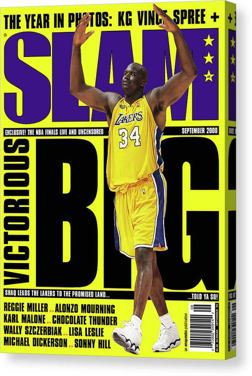 Shaquille O'neal Canvas Print featuring the photograph Shaquille O'Neal: Notorious BIG SLAM Cover by Getty Images