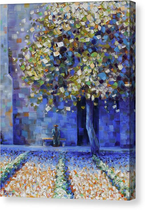 Canvas Print featuring the painting St Remy de Provence by Rob Buntin
