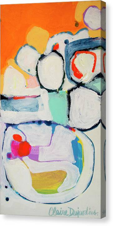 Abstract Canvas Print featuring the painting Tongue Tied by Claire Desjardins