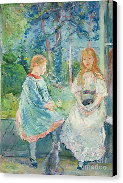 Young Girls At The Window Canvas Print by Berthe Morisot