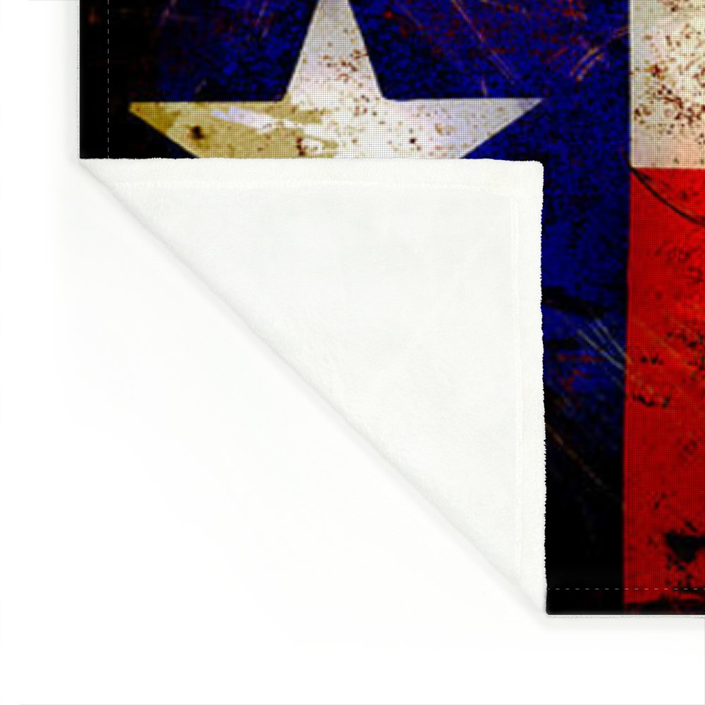 dd3a5d045be Grunge Style Us And Texas Flags Fleece Blanket for Sale by David G Paul