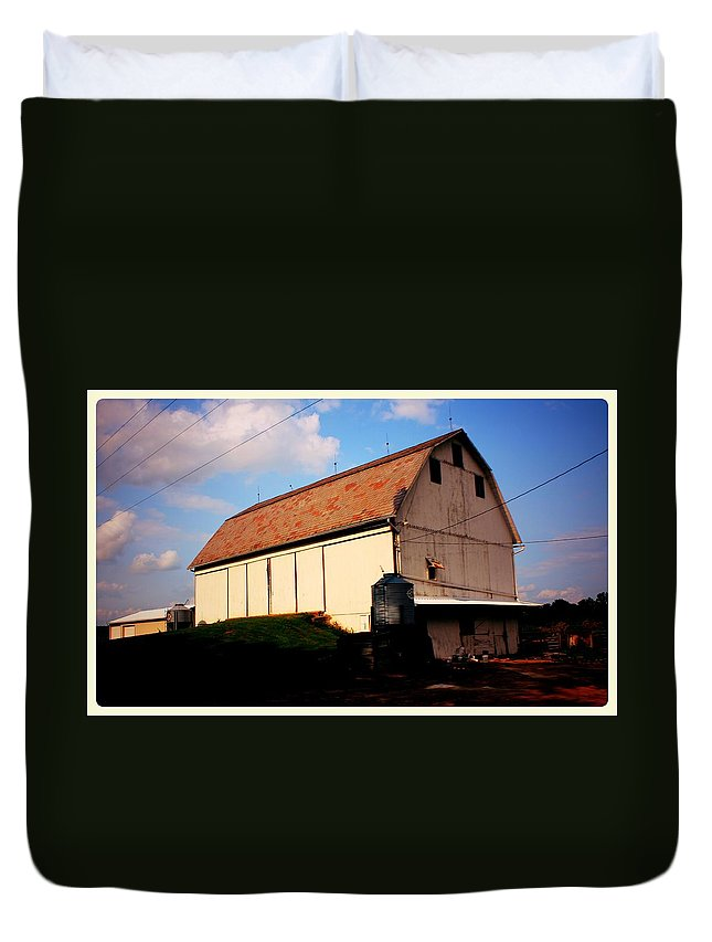 Barn Canvas Prints Duvet Cover featuring the photograph     Early Morning by R A W M