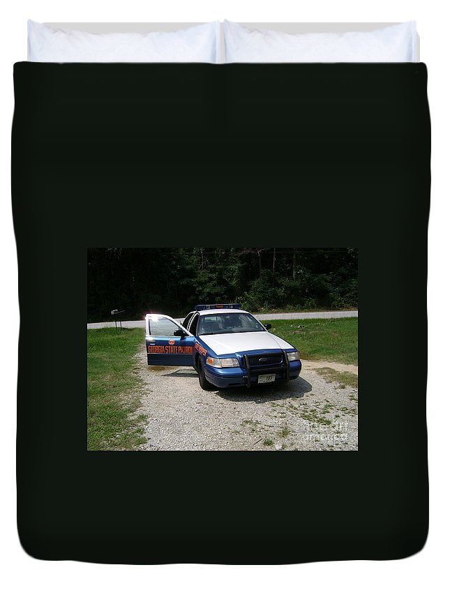 Georgia Photography Duvet Cover featuring the photograph   Georgia State Patrol by R A W M