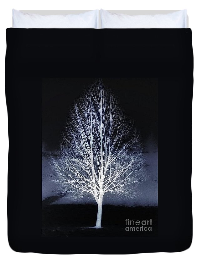 Tree Duvet Cover featuring the photograph At Maple Hill Park by Chet B Simpson