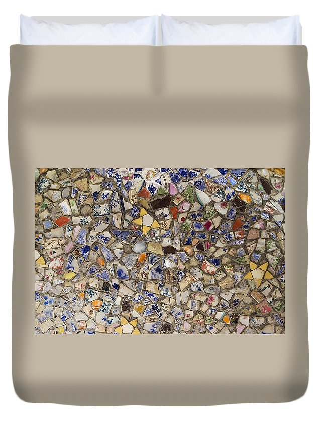 Guernsey Duvet Cover featuring the photograph Broken China by Chris Smith
