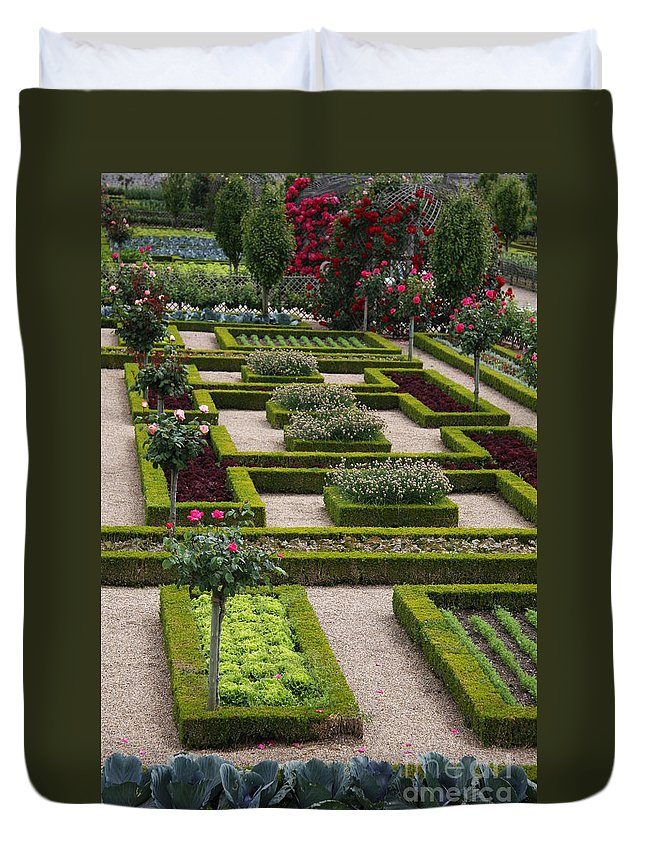 Cabbage Duvet Cover featuring the photograph Cabbage Garden Chateau Villandry by Christiane Schulze Art And Photography
