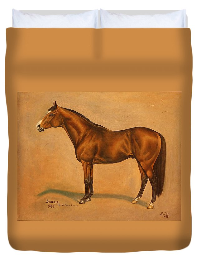 Champion Duvet Cover featuring the painting Danzig by Birgit Schnapp