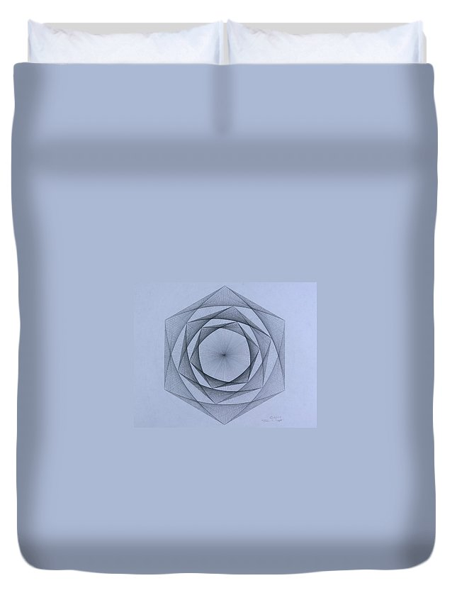 Jason Padgett Duvet Cover featuring the drawing  Energy Spiral by Jason Padgett