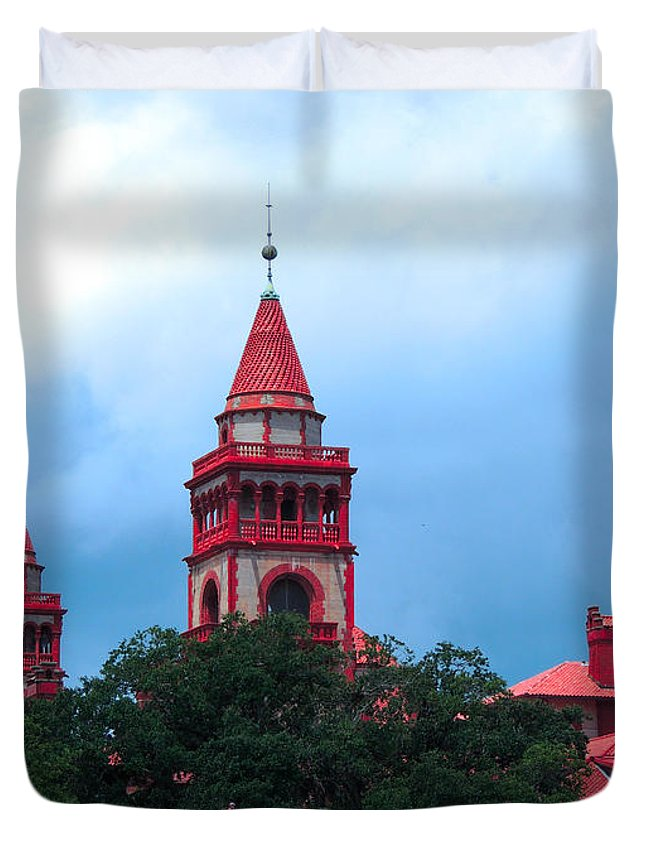 St Augustine Duvet Cover featuring the photograph Flagler College St Augustine Fl by Marilyn Holkham