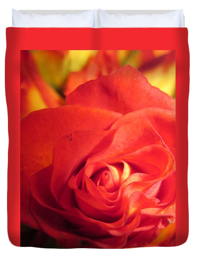 Flowerromance Duvet Cover featuring the photograph Layers In Red by Rosita Larsson