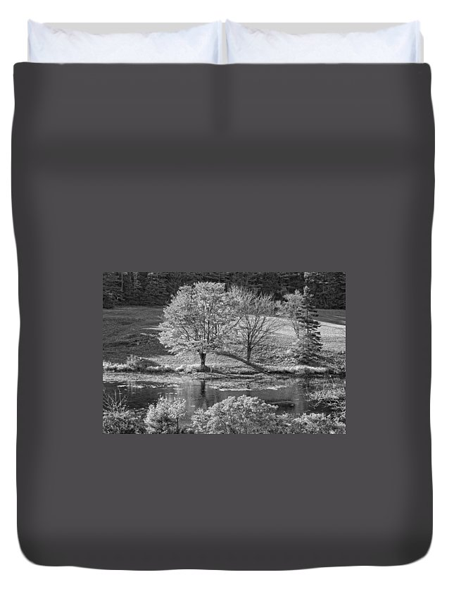 Maine Duvet Cover featuring the photograph Long Pond On Mount Desert Island In Maine by Keith Webber Jr