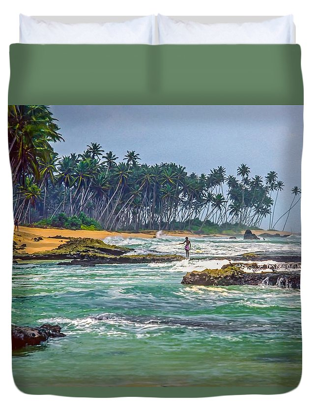 India Duvet Cover featuring the photograph Sri Lanka by Steve Harrington