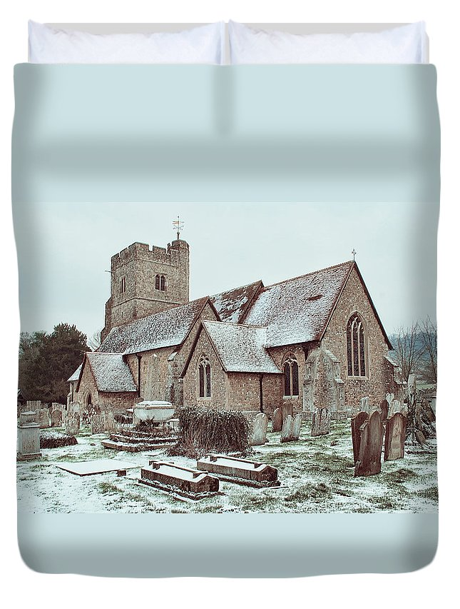 St Mary And All Saints Boxley Duvet Cover featuring the photograph St Mary And All Saints Boxley by Dave Godden