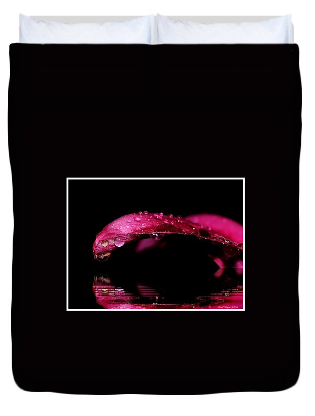 Tears Duvet Cover featuring the photograph Tears Of Reflections by Wayne Gill