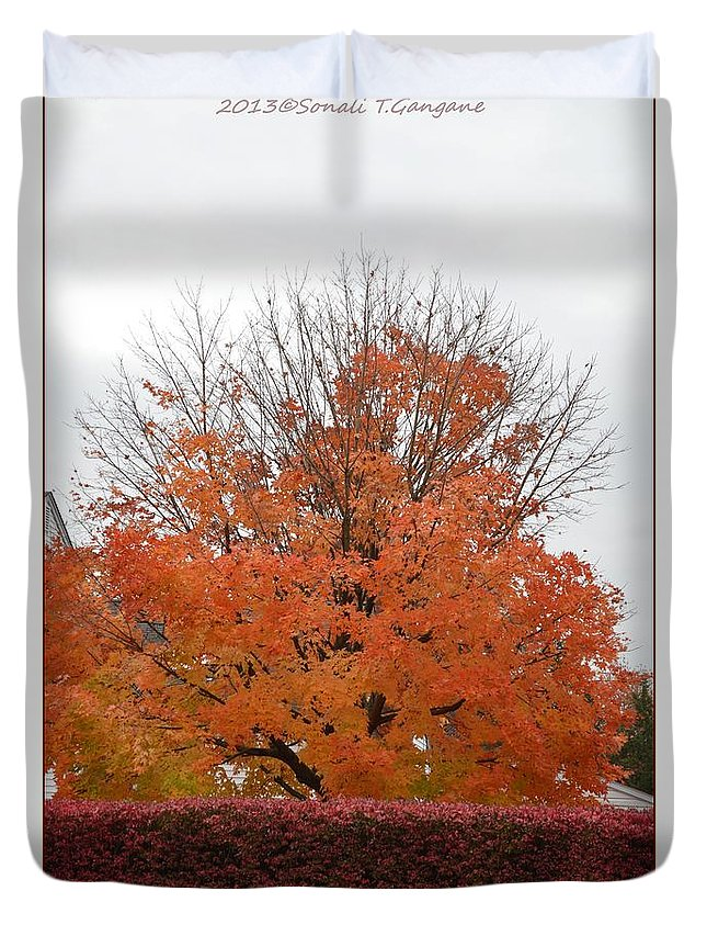 Posters Duvet Cover featuring the photograph Thanksgiving Greetings by Sonali Gangane
