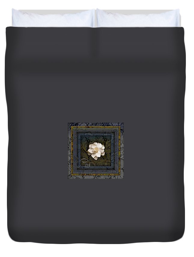 Gardenia Duvet Cover featuring the photograph The Intoxicating Fragrance Of Love by Richard Laeton