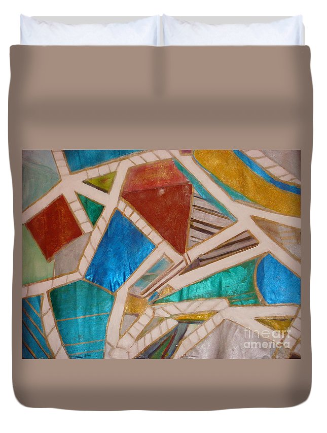 Land Scape Duvet Cover featuring the painting Tuscany Sienna by Fereshteh Stoecklein