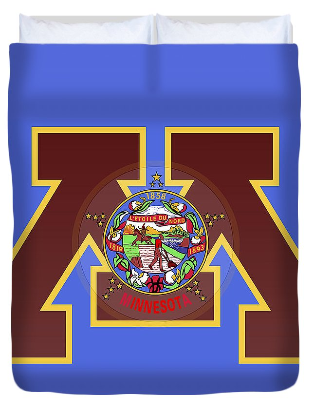 U Of M Minnesota State Flag Duvet Cover For Sale By Daniel Hagerman