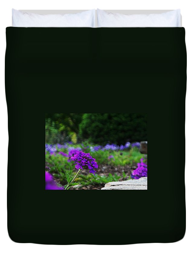 Floral Duvet Cover featuring the photograph Violet Flower by Eric Schiabor