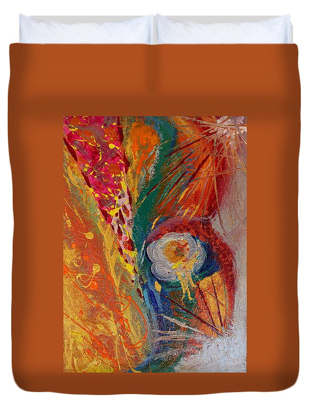 Abstract Paintings Duvet Cover featuring the painting When We Meet Again Part 2 by Julia Fine Art And Photography