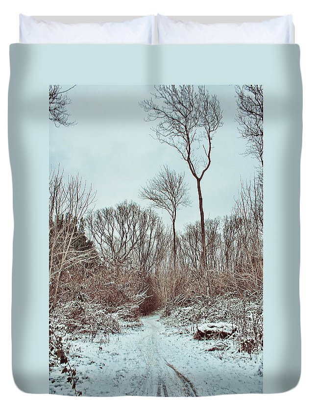 Woodland Walk Duvet Cover featuring the photograph Woodland Walk by Dave Godden