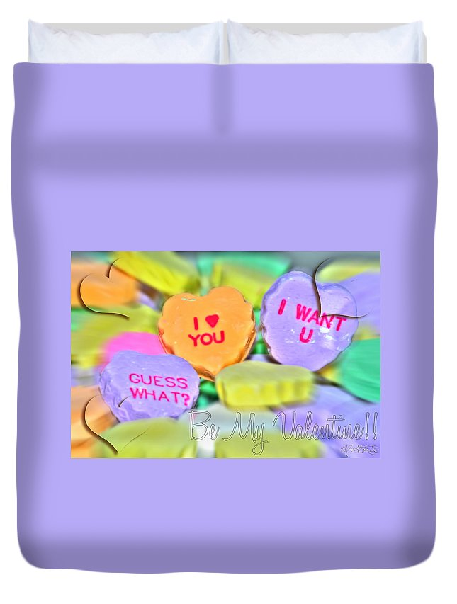 Valentine Duvet Cover featuring the photograph 0004 Valentine Series by Michael Frank Jr