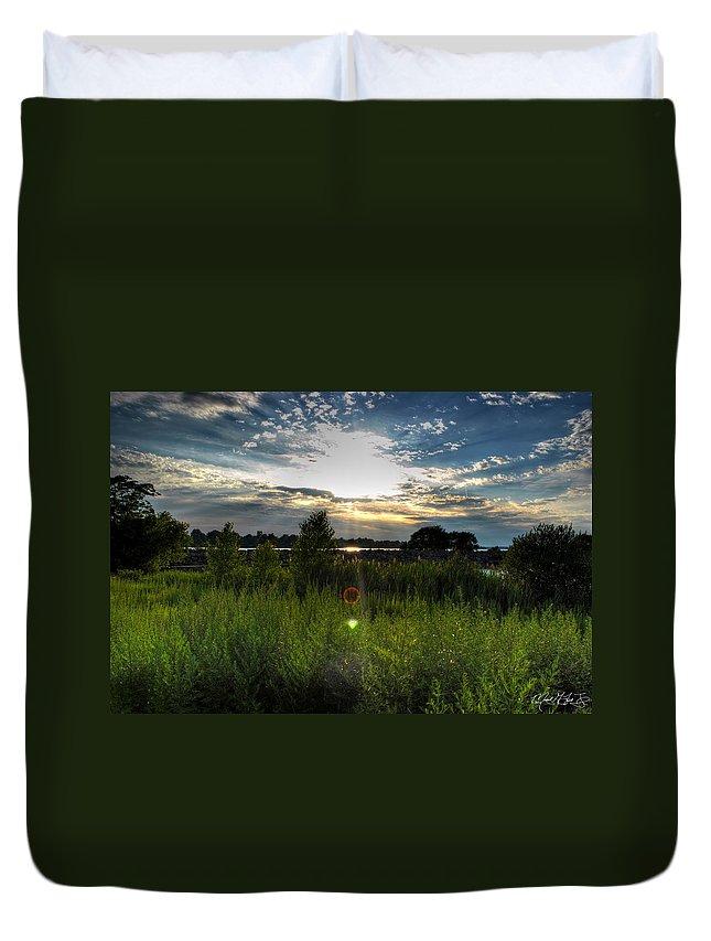 Buffalo Duvet Cover featuring the photograph 001 Setting Sun At Deyowenoguhdoh by Michael Frank Jr