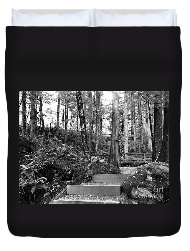 Waking Path Duvet Cover featuring the photograph _0010062 by David Fabian