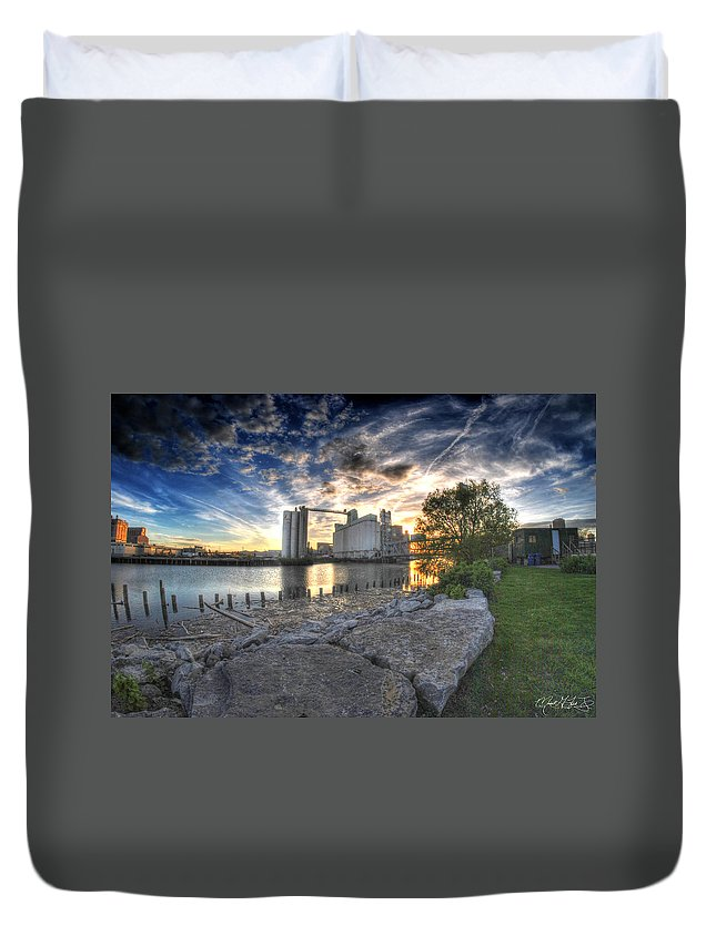 General Mills Duvet Cover featuring the photograph 003 General Mills At Sunset by Michael Frank Jr