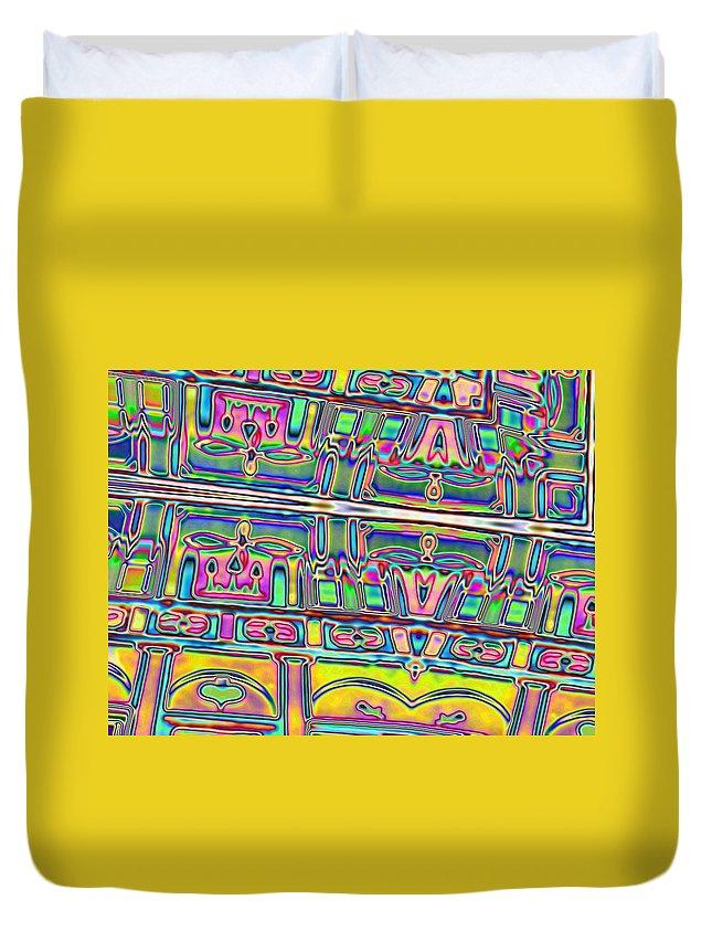 Yellow Duvet Cover featuring the digital art 01-12-2014 by John Holfinger