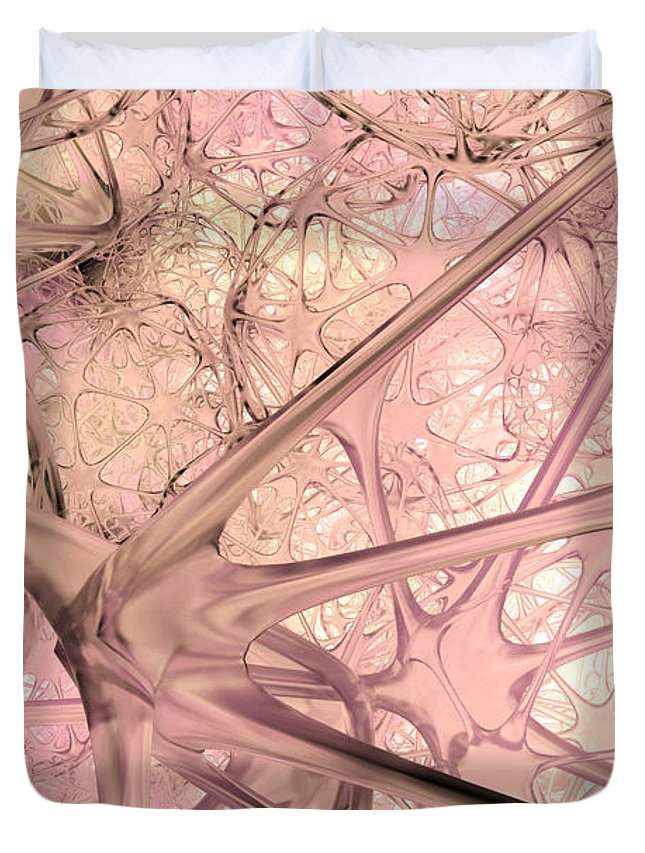 Glass Duvet Cover featuring the digital art 012315 by Matt Lindley