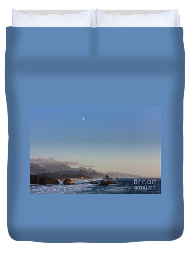 Cannon Duvet Cover featuring the photograph 0320 Cannon Beach Oregon by Steve Sturgill