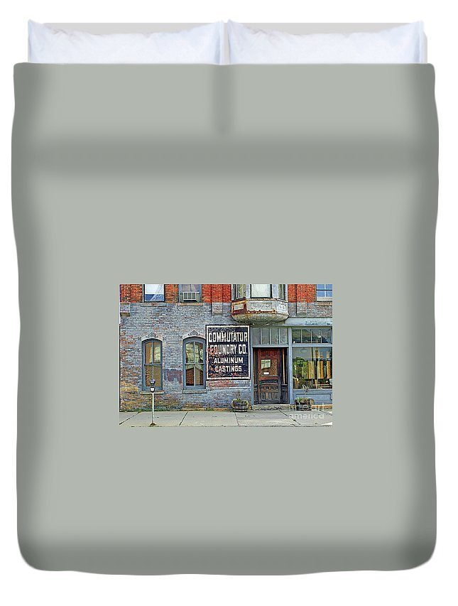 Urban Duvet Cover featuring the photograph 0605 Old Foundry Building by Steve Sturgill