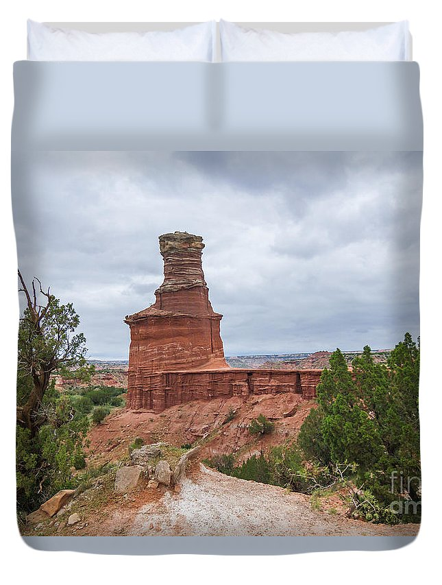 2014 Duvet Cover featuring the photograph 07.30.14 Palo Duro Canyon - Lighthouse Trail 62e by Ashley M Conger