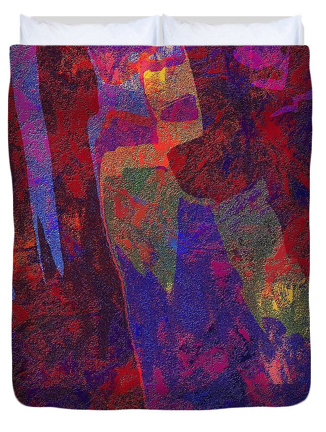 Abstract Duvet Cover featuring the digital art 0788 Abstract Thought by Chowdary V Arikatla