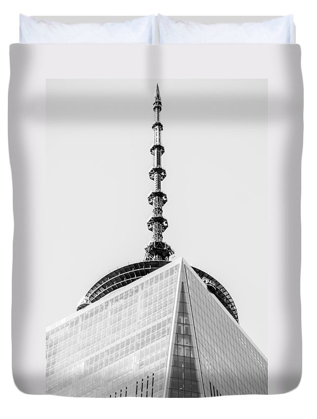 Freedom Duvet Cover featuring the photograph  Scenery Near World Trade Center In New York C by Alex Grichenko
