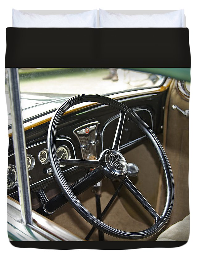 Antique Duvet Cover featuring the photograph 1933 Pontiac by Jack R Perry