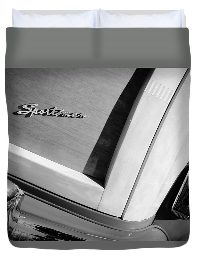 1947 Ford Super Deluxe Sportsman Convertible Taillight Emblem Duvet Cover featuring the photograph 1947 Ford Super Deluxe Sportsman Convertible Taillight Emblem by Jill Reger
