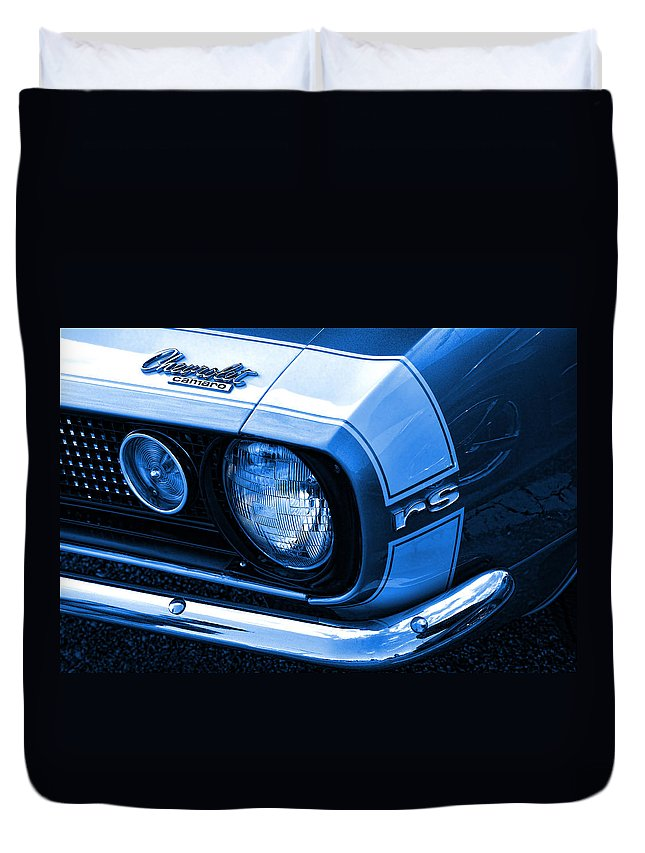 1968 Duvet Cover featuring the photograph 1967 Chevy Camaro Rs by Gordon Dean II