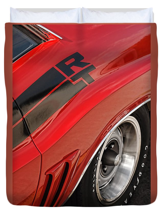 1970 Duvet Cover featuring the photograph 1970 Dodge Challenger R/t by Gordon Dean II