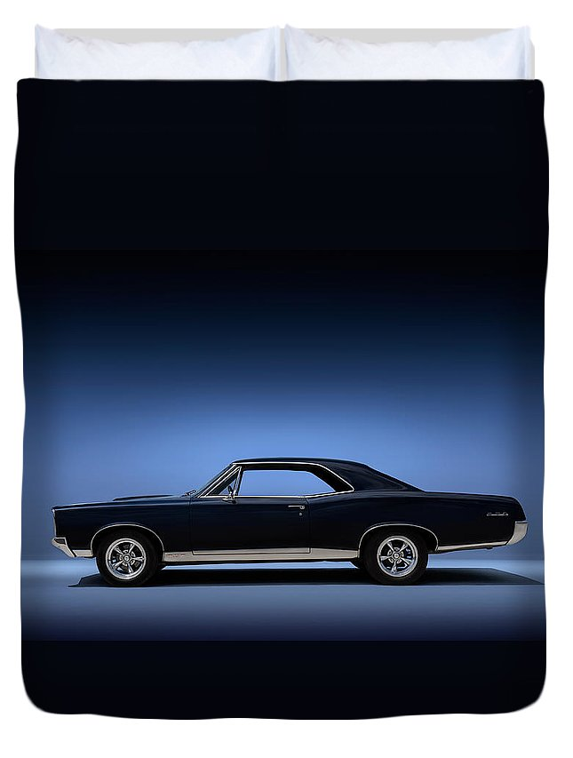 Transportation Duvet Cover featuring the digital art 67 Gto by Douglas Pittman