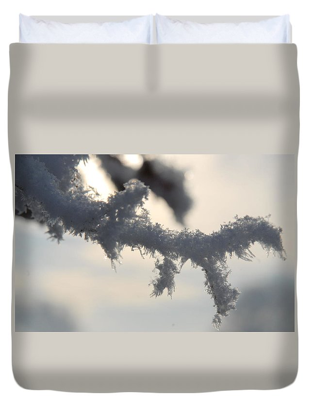 Irish Photography Duvet Cover featuring the photograph Deep Freeze by Dave Byrne