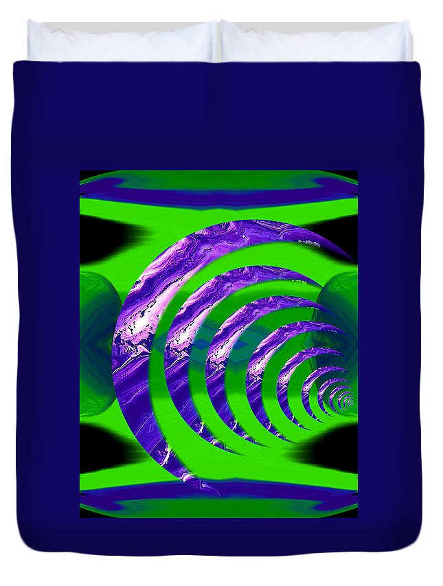 Original Duvet Cover featuring the painting Abstract 123 by J D Owen