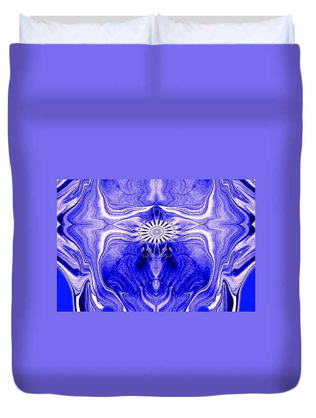 Original Duvet Cover featuring the painting Abstract 139 by J D Owen