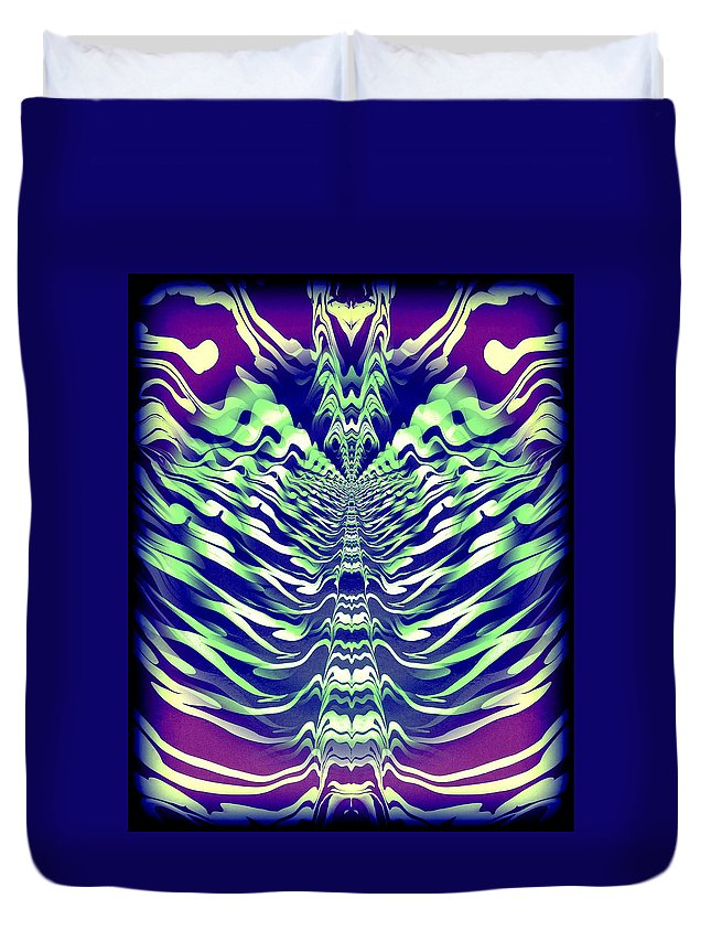 Original Duvet Cover featuring the painting Abstract 140 by J D Owen