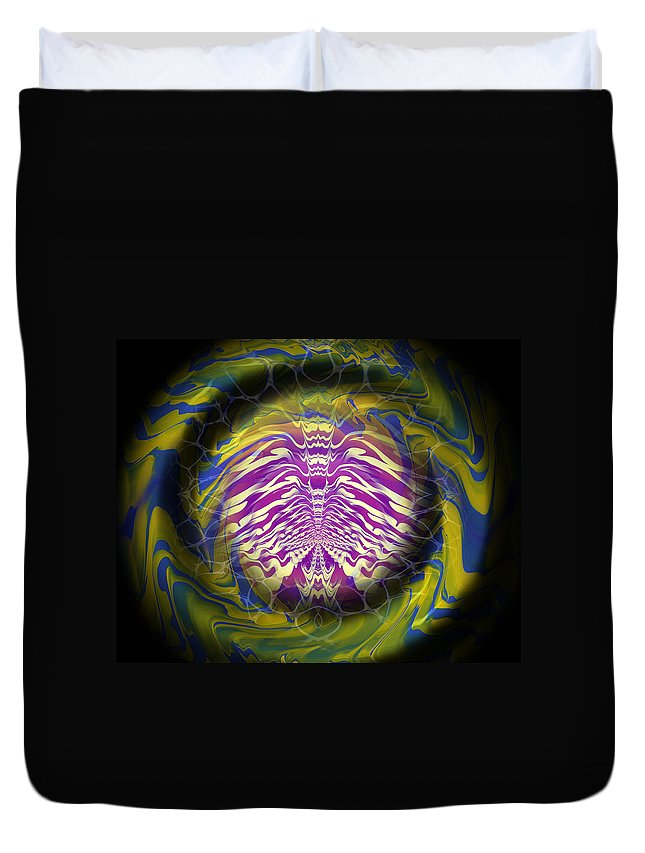Original Duvet Cover featuring the painting Abstract 141 by J D Owen